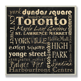 Toronto Landmarks Typography