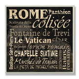 Rome Landmarks Typography