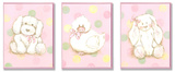 Duck  Bunny and Doggy Plaque Trio
