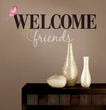 Welcome Friends Peel & Stick Wall Decals