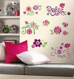 Love  Joy  Peace Peel & Stick Wall Decals