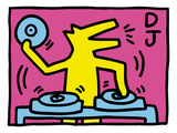Pop Shop (DJ) Giclée par Keith Haring