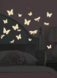 Butterfly & Dragonfly Glow in the Dark Wall Decals