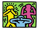 Pop Shop (Ne pas dire, ne pas voir, ne pas entendre ce qui est mal) Giclée par Keith Haring