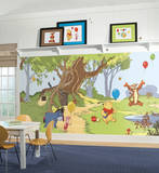 Pooh & Friends Chair Rail Prepasted Mural