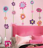 Flower Stripe Peel & Stick Giant Wall Decal