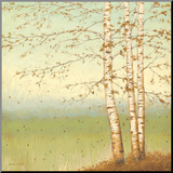 Golden Birch II with Blue Sky