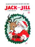 Santa & Reindeer - Jack and Jill  December 1956