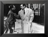 """Charles Aznavour et Lino Ventura (épisode """"Homicide point de ne seras"""") : Le Diable et Les Dix Commandement de Photo encadrée par Limot"""