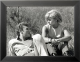 Johnny Hallyday et Sylvie Vartan, 6 Juin 1963 Photo encadrée par Luc Fournol