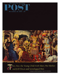 """""""Adoration of the Magi"""" Saturday Evening Post Cover  December 26  1959"""