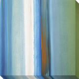 Blue  Green  White and Orange Soft Vertical Stripes