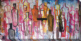 Abstract Liquor Bottles