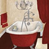 Red Guest Bathroom I Reproduction d'art par Elizabeth Medley