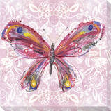 Pink Butterfly on Light Pink Pattern