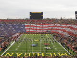 University of Michigan - American Flag Formed at Michigan Stadium