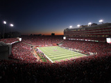 University of Nebraska - Memorial Stadium under the Night Sky