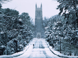 Duke University - Snowy Chapel Drive
