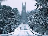 Duke University - Snowy Chapel Drive