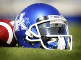 University of Kentucky - Kentucky Helmet Sits at Commonwealth Stadium