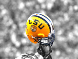 Louisiana State University - LSU Football Helmet Held High