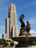 University of Pittsburgh - Statue and Cathedral of Learning