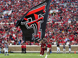 Texas Tech University - Red Raider Cheerleaders and Flag