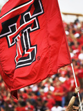 Texas Tech University - Red Raider Flag Flies on Game Day