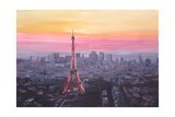 Paris Eiffel Tower at Dusk
