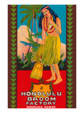 Honolulu Broom Factory Broom Label