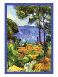 A View Through the Trees Of Reproduction d'art par Paul Cézanne