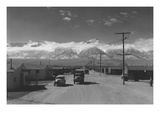 Manzanar Street Scene, Spring Reproduction d'art par Ansel Adams