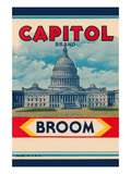Capitol Brand Broom Label