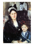 Portrait of Mme Boursier and Daughter