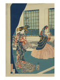 Courtesans in a Western-Style Building of Yokohama (Yokohama No Yokan No Yujo)