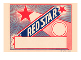 Red Star Broom Label