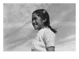 Girl Smiling Reproduction d'art par Ansel Adams