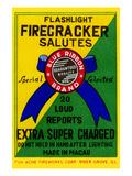 Flashlight Firecracker Salutes - Blue Ribbon Brand