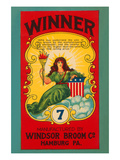Winner Broom Label