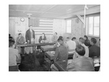 Roy Takano [IE  Takeno] at Town Hall Meeting  Manzanar Relocation Center  California
