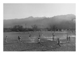 Football Practice Reproduction d'art par Ansel Adams
