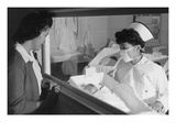 Nurse Aiko Hamaguchi, Mother Frances Yokoyama, Baby Fukomoto Reproduction d'art par Ansel Adams