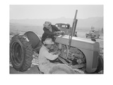 Tractor Repair: Driver Benji Iguchi  Mechanic Henry Hanawa  Manzanar Relocation Center  California
