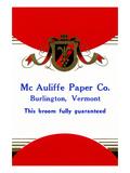 Mc Auliffe Paper Co Broom Label