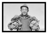 Richard Kobayashi, Framer with Cabbages Reproduction d'art par Ansel Adams