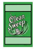 Clean Sweep Broom Label
