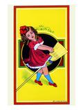Broom Girl Broom Label
