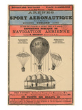 Broadside Announcement of a Balloon Ascension
