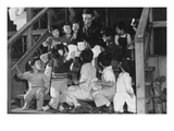Mr. Matsumoto and Group of Children Reproduction d'art par Ansel Adams