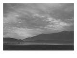 View Sw over Manzanar, Dust Storm Reproduction d'art par Ansel Adams